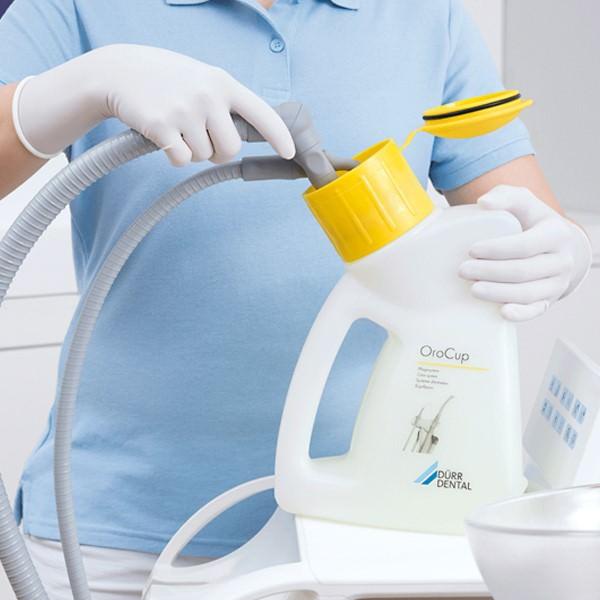 Процесс дезинфекции оборудования