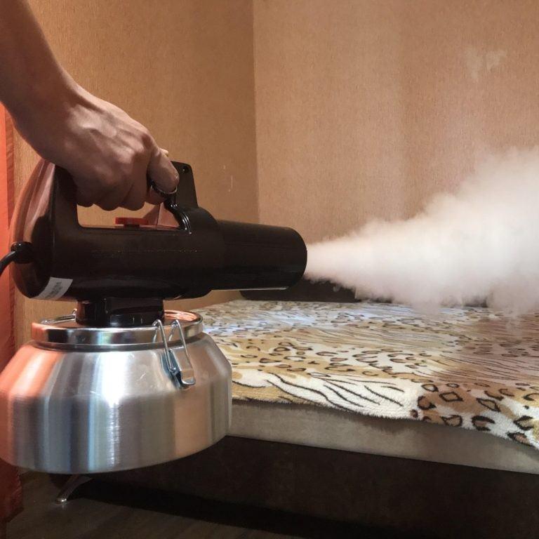 Процесс обработки от клопов горячим туманом
